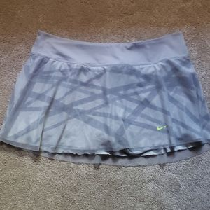 Nike Mesh Dri Fit Skirt Large Gray